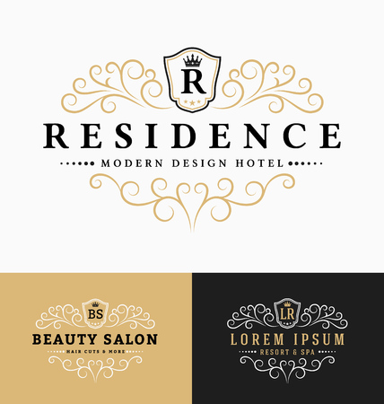 Luxurious Royal icon Re-sizable Design Template Suitable For Businesses and Product Names, Luxury industry like hotel, wedding, restaurant, beauty salon, real estate, resort and spa.