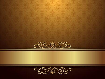 Fond d'or avec un modèle de luxe et d'élégance Concept.