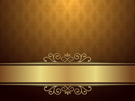 eleganz: Goldener Hintergrund mit Luxus-Design und Eleganz Konzept.
