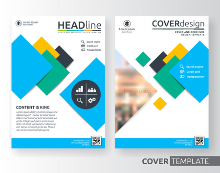 Abstract business cover design suitable for flyer, brochure, book cover and annual report. Colorful A4 size template background with bleed. Vector illustration Illustration