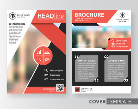 bleed: Abstract cover design suitable for flyer, brochure, book cover and annual report. Red and black color A4 size template background with bleed. Vector illustration Illustration