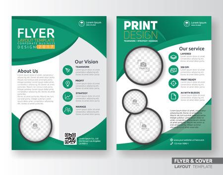 dépliant d'affaires polyvalent corporate design modèle de mise en page. Convient pour dépliant, dépliant, brochure, couverture de livre et le rapport annuel. Mise en format A4 avec des saignements.