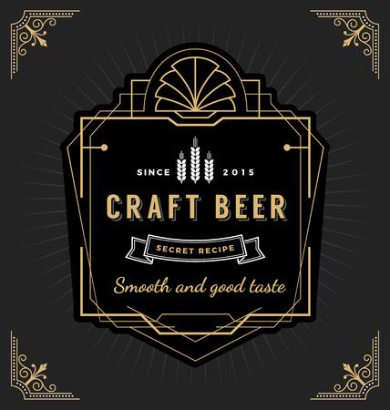 Design etichetta telaio d'epoca. Adatto per etichette di whisky e vino, banner ristorante, etichetta di birra.