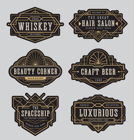 label design: Vintage frame label design. Suitable for Whiskey and Wine label, Restaurant banner, Beer label, Beauty salon.