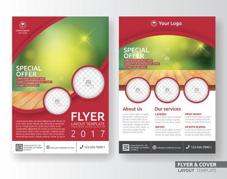 Diseño del modelo de diseño de negocios corporativos de usos múltiples. Adecuado para prospecto, folleto, de libro y el informe anual. Disposición de tamaño A4 con hemorragias. Foto de archivo - 61107467