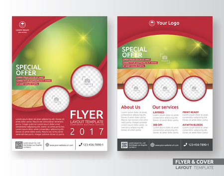 Multipurpose corporate business layout template design. Suitable for leaflet, brochure, book cover and annual report. Layout in A4 size with bleeds.