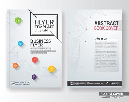 Multiuso modello aziendale di layout aziendale. Adatto per foglio, brochure, copertina del libro e la relazione annuale. Layout in formato A4 con sanguinamenti.