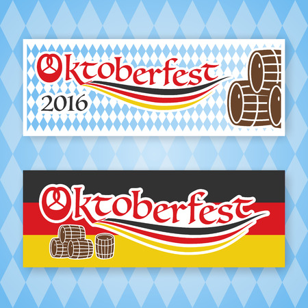 beerfest: 2016 Oktoberfest banner set for any use. Vector illustration