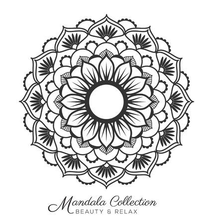 Tibetan Mandala Decorative Ornament Design For Coloring Page Greeting Card Invitation Tattoo