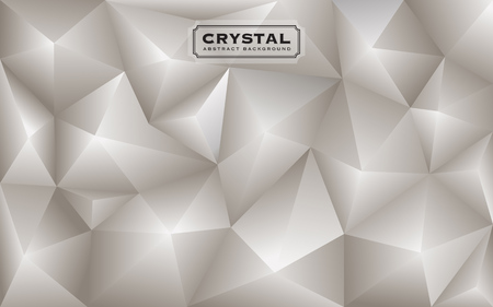 gnarled: Abstract white diamond polygon background. Luxury low poly wallpaper design. Vector illustration Illustration