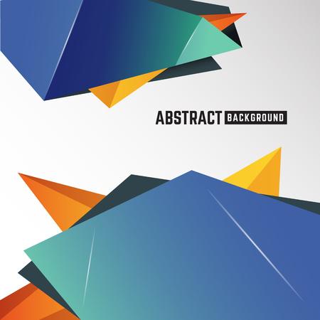 coporate: Abstract geometric polygon element background for leaflet, brochure, flyer, presentation and other design. Vector illustration Illustration