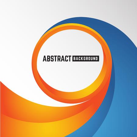 curve: abstract orange and blue curve circle background for leaflet, brochure, flyer, presentation and other design. Vector illustration Illustration