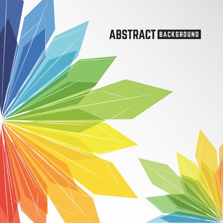 abstract colorful crystal background for leaflet, brochure, flyer, presentation and other design. Vector illustration