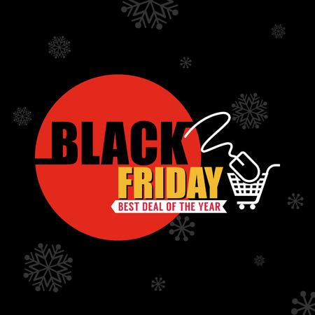 buen trato: Viernes Negro Fondo de la venta de una buena promoción Deal. Viernes Negro Banner y la etiqueta de la ilustración Website.Vector