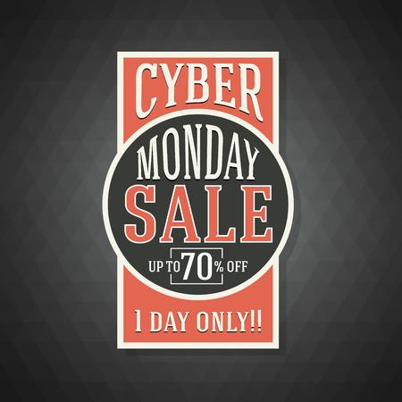 buen trato: Cyber ??Monday Fondo de la venta de una buena promoción Deal. Cyber ??Monday Banner y la etiqueta de la ilustración Website.Vector