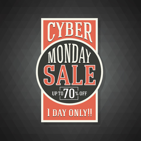 sale sticker: Cyber Monday Sale Background for Good Deal Promotion. Cyber Monday Banner and Label for Website.Vector illustration