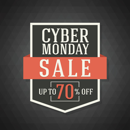buen trato: Cyber Monday Sale Background for Good Deal Promotion. Cyber Monday Banner and Label for Website.Vector illustration