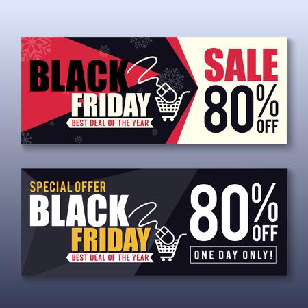 buen trato: Viernes Negro Antecedentes Bandera de la venta para la buena promoción Deal. Viernes Negro y etiqueta ilustración design.vector