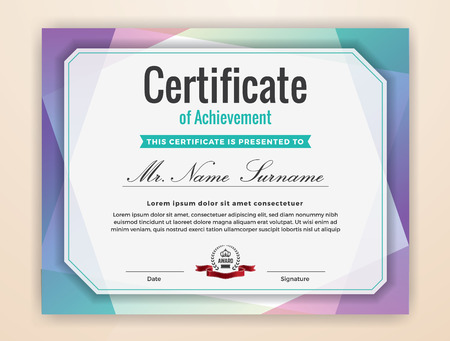 Multipurpose Modern Professional Certificate Template Design for Print.