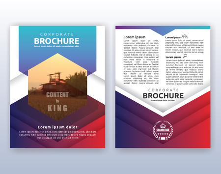 magazine design: Multipurpose modern corporate business flyer layout design. Suitable for flyer, brochure, book cover and annual report. 8.5x11 inches document layout template background with bleeds.