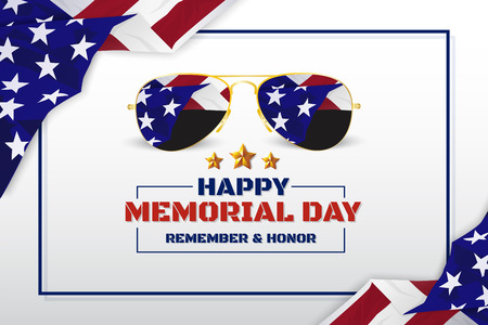 Memorial Day Banner Design Illustration