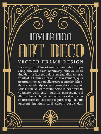 Luxury vintage frame art deco style. vector illustration