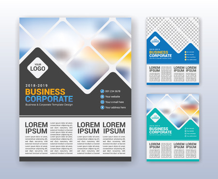Modern business annual report template multipurpose flyter modern business annual report template multipurpose flyter background 85 x 11 inches print media friedricerecipe Choice Image