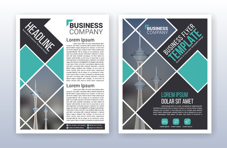 Modern business annual report template. Multipurpose flyter background. 8.5 x 11 inches print media.