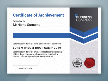 Multipurpose Professional Certificate Template Design for Print. Vector illustration 向量圖像