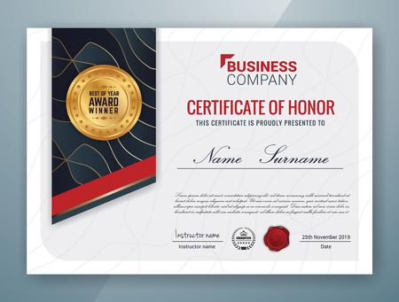 Multipurpose Professional Certificate Template Design for Print. Vector illustration Illustration