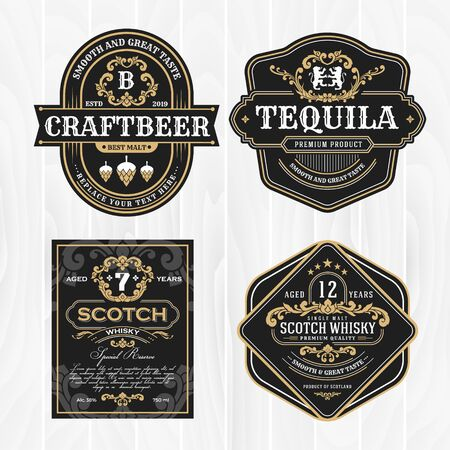 Classic vintage frame for labels, banner and other design. Suitable for whiskey, beer and premium product.