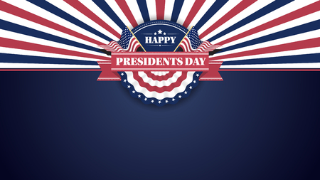 Happy Presiidents Day Banner Background and Greeting Cards. Vector Illustration Illustration