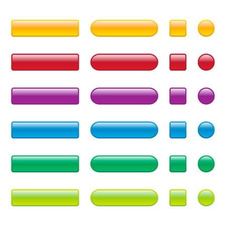 Colorful Blank Web Buttons