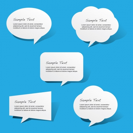 bubble speech: Paper Speech Bubbles