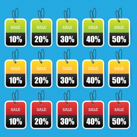Colorful Sale Tags Vector