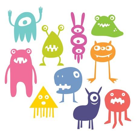 cartoon monster: Monster Vector Set