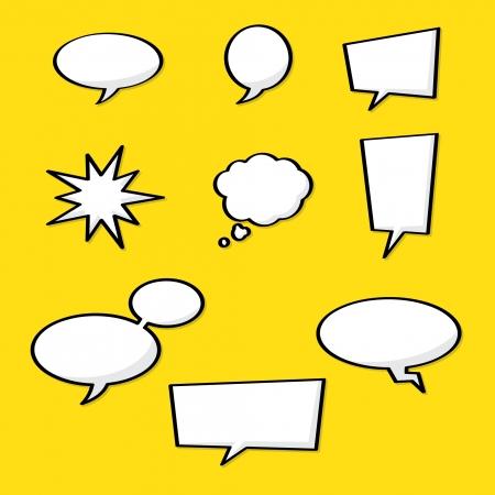 Comic Style Speech Bubble Sketch Set Stock Vector - 19374885