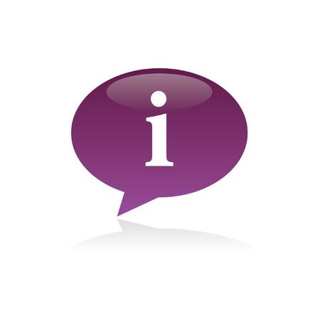 Purple Information Speech Bubble Stock Illustratie