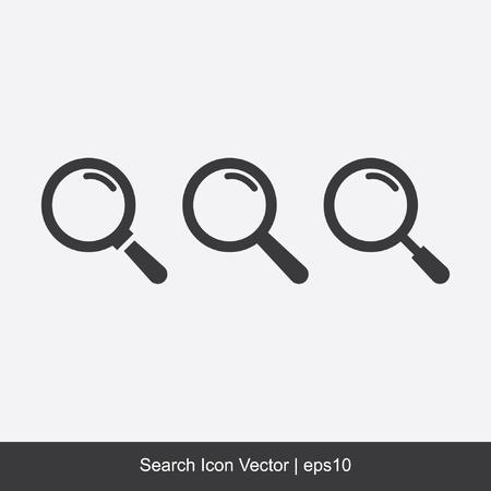 search icon: Zoek Icoon Vector Stock Illustratie