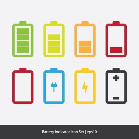 bateria: Iconos de indicador de batería