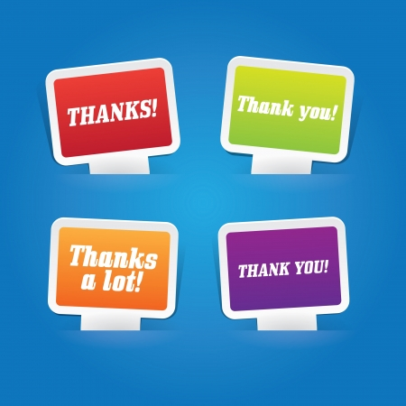 Set of Thank You Labels Vector