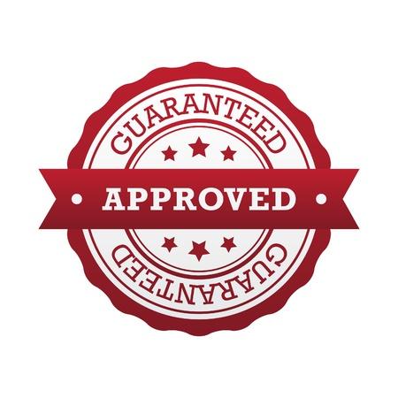 proved: Etichetta garantito e approvato Vettoriali