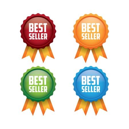 best seller: Bunte Best Seller Labels
