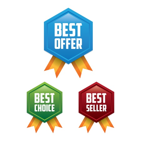 best choice: Best Offer, Best Choice, Best Seller Label Badges