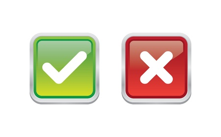 Glossy Yes or No Buttons Vector