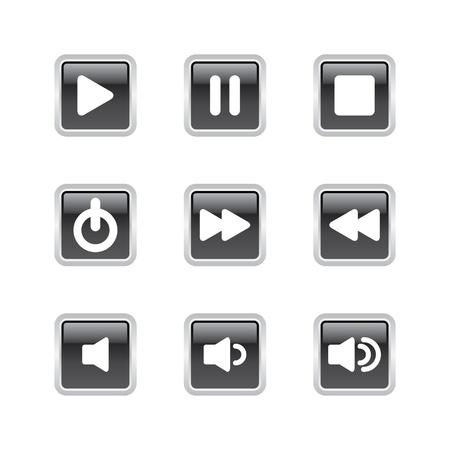 Music Player Navigation Button Set