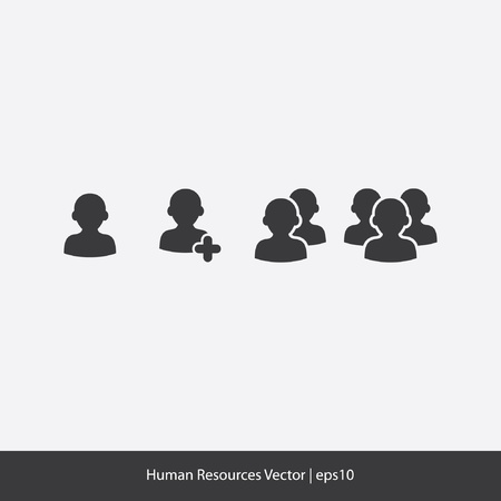 Human Resources Icons Stock Vector - 20332368