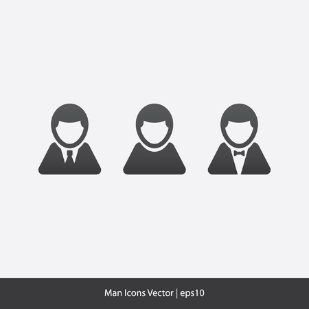 Man Icons Vector Stock Vector - 20332048