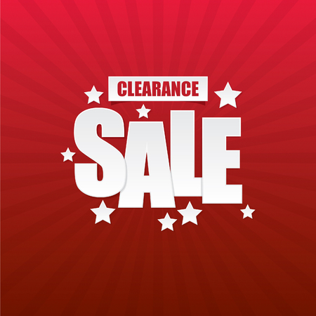 Clearance Sale Paper Sign and Background