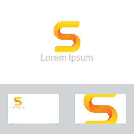 editable sign: Letter S Symbol With Business Card Template